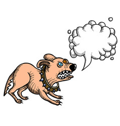 Cartoon image of annoyed dog vector