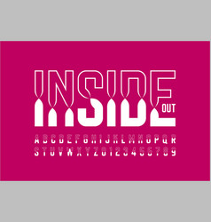 colorful inside out font alphabet letters and vector image
