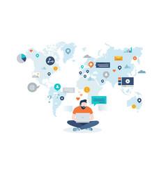 concept worldwide web vector image