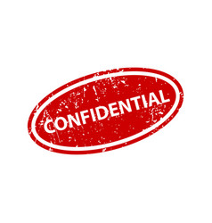 confidential sign sticker stamp texture vector image