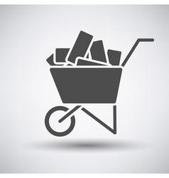 Construction cart icon vector image