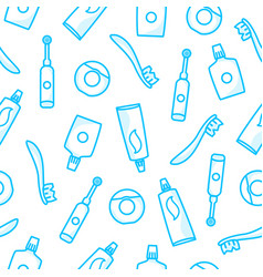 dental care seamless pattern vector image