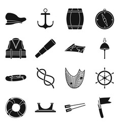 design attributes and vintage icon set vector image