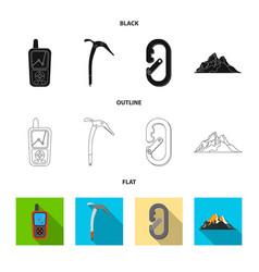 Design mountaineering and peak symbol vector