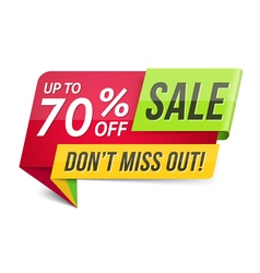 Dont Miss Out Sale vector