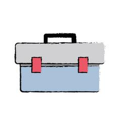 Doodle box tool equipment to repair construction vector