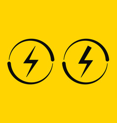 electrical signs vector image
