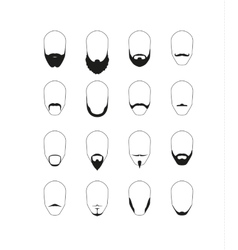 Facial hairstyles set vector image