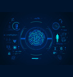 fingerprint interface vector image