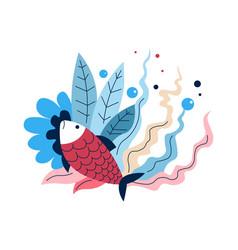 fish carp or bass fishing sport or hobabstract vector image
