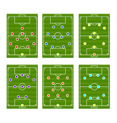 Football play scheme tactics vector