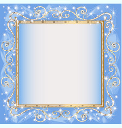 frame blue background with goldenen sample vector image