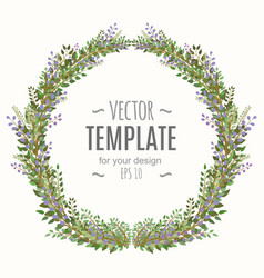 fresh spring frame with lettering and flowers vector image vector image