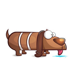 funny cute cartoon dog characters vector image