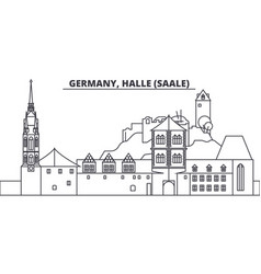 Germany halle saale line skyline vector