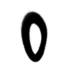 Graffiti style letter o with a spray in black over vector