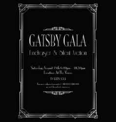 Great gatsby gala background vector