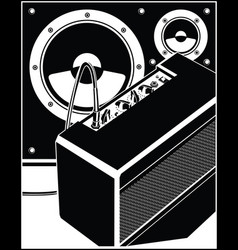 guitar amplifier and speakers vector image