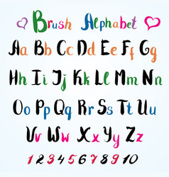 hand drawn font handwritten alphabet letters and vector image