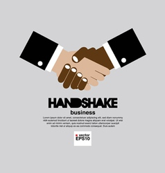 Handshake simply and clean business concept vector image