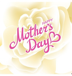 Happy Mothers Day Beautiful Blooming whire Rose vector