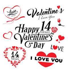 Happy valentines day message collections vector