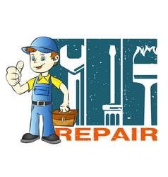home repairman vector image