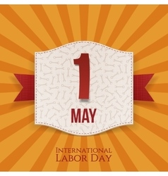 International Labor Day realistic Holiday Banner vector