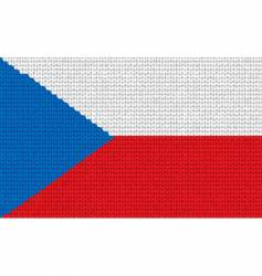 knitted Czech republic flag vector image