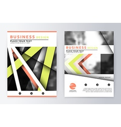 Layout design template annual report brochure vector image