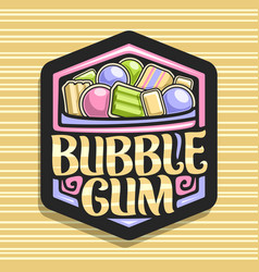 Logo for bubble gum vector