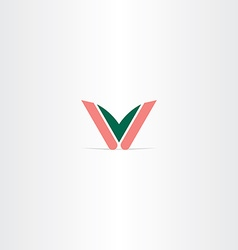 logo v letter icon logotype vector image