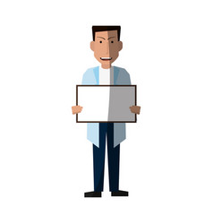 Male medical doctor icon image vector