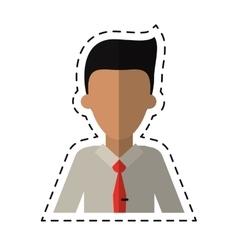 Man employee work business cutting line vector