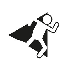 Marathon run block sport figure symbol graphic vector