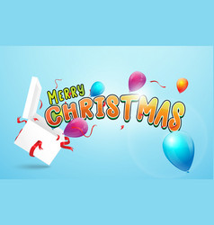 merry christmas and happy new year banner open vector image