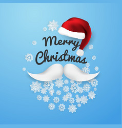 merry christmas and new year xmas background with vector image