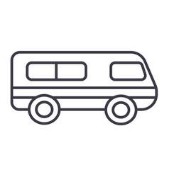 microbusminibus line icon sign vector image