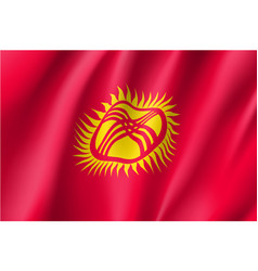National flag of kyrgyzstan republic vector
