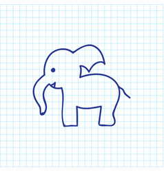 of zoo symbol on trunked vector image