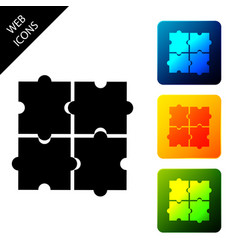 Piece puzzle icon isolated on white background vector