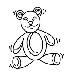 playground kids doll bear vector image