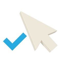Positive pointer icon cartoon style vector