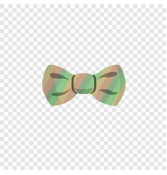 Rainbow bowtie icon cartoon style vector