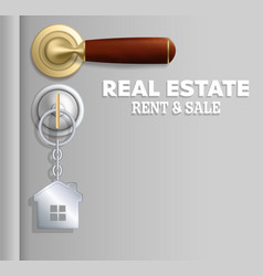 Real estate rent and sale concept vector