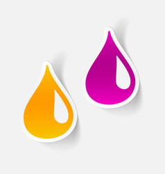 realistic design element drop vector image