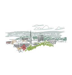 Salem oregon usa america sketch city line art vector