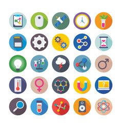 science and technology colored icons 2 vector image