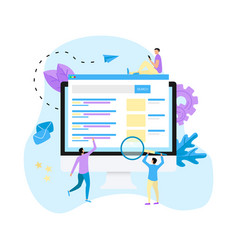 search engine result page vector image