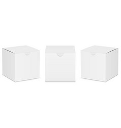 Set of paper square boxes mockups vector